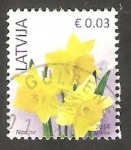 Stamps : Europe : Latvia :  Flor narciso