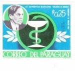 Stamps Paraguay -  Christian Barnard-medicina primer transplante de corazón 1068