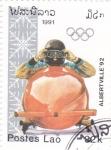 Stamps Laos -  Olimpiada de invierno Albertville-92