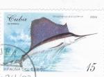 Stamps Cuba -  fauna del Caribe- pez espada