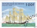 Sellos de Africa - Benin -  velero de epoca