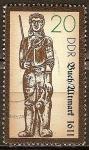 Sellos del Mundo : Europa : Alemania :  Estatua de Roland en libro / Altmark, 1611(DDR).