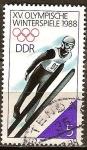 Sellos del Mundo : Europa : Alemania :  XV.Juegos Olímpicos de Invierno(Calgary) 1988-DDR.