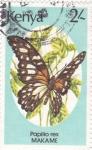 Sellos de Africa - Kenya -  mariposa-