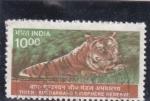 Stamps : Asia : India :  tigre de Bengala