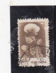 Stamps : Asia : India :  flor del algodon