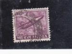 Sellos de Asia - India -  avión- Gnat