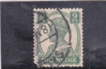 Stamps : Asia : India :  rey George V