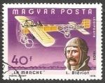 Stamps Hungary -  La Manche- L.Bieriot