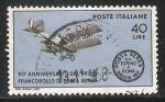 Sellos del Mundo : Europa : Italia : 50º anniversario delprimo francobollodi posta aerea-