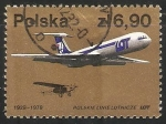 Sellos de Europa - Polonia -  Companhias aéreas na Polônia