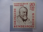 Stamps Germany -  Ludwig Heck 1860-1951. Deutsche Bundespost Berlin.