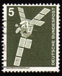 Stamps Germany -  COL-NACHRICHTENSATELLIT-SATELITE ARTIFICIAL