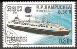 Stamps Cambodia -  Passenger Liner-Buque de pasaje