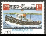 Sellos de Asia - Camboya -  Remorqueur 250