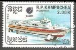 Stamps : Asia : Cambodia :  Hydrofoil-Hidroala