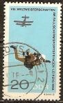 Sellos de Europa - Alemania -  VIII.Campeonato Mundial en el salto de paracaidismo en Leipzig 1966,DDR.