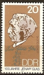 Sellos del Mundo : Europa : Alemania :  Dr. Otto Schott(quimico)100 años Jena vidrio, DDR