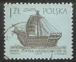 Sellos de Europa - Polonia -  Holk statek handlowy XIV