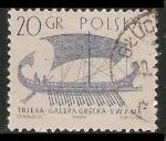 Sellos de Europa - Polonia -  Triera Galera Grecka