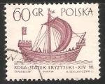 Stamps : Europe : Poland :  koga statek fryzyjski