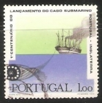 Sellos del Mundo : Europa : Portugal : 1º centenario do lancamento do cabo submarino