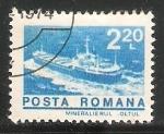 Sellos de Europa - Rumania -  Barco en el rio OLt