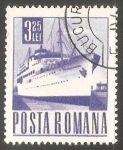 Stamps Romania -  Barco