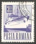 Sellos de Europa - Rumania -  Barco
