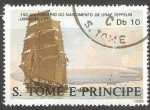 Sellos de Africa - Santo Tomé y Principe -  150 aniversario do nascimento de Graf Zeppelin