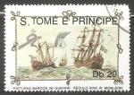 Sellos del Mundo : Africa : Santo_Tomé_y_Principe : Pinturas barcos de guerra