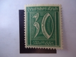 Stamps Germany -  Cifras -30 Pfening.
