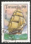 Sellos del Mundo : Africa : Tanzania : Battle - ship