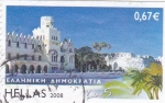 Sellos de Europa - Grecia -  panorámica de Ahmokpatia
