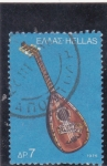 Stamps Greece -  instrumento musical
