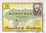 Stamps Honduras -  mapa de Honduras