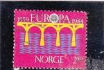 Sellos de Europa - Noruega -  EUROPA CEPT-viaducto