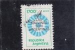 Sellos de America - Argentina -  Malvinas son argentinas