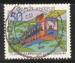 Stamps Germany -  75 years Wuppertal suspended Railway