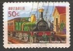 Sellos de Oceania - Australia -  Melbourne Sandridge 1854-Línea ferroviaria Port Melbourne