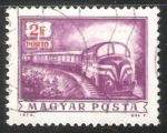 Stamps Hungary -  Diesel mail train