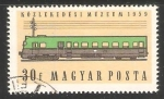 Stamps Hungary -   Diesel train