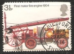 Sellos del Mundo : Europa : Reino_Unido : First Motor free engine 1904