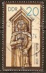 Sellos de Europa - Alemania -  Las estatuas de Roland en el Hall sobre el año 1719-DDR