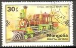 Sellos de Asia - Mongolia -  Typical American Engine 1860