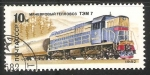Stamps Russia -  Diesel locomotive TEM 7