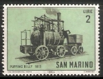 Sellos del Mundo : Europa : San_Marino : Puffing Billy 1813