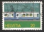 Sellos de Europa - Suiza -  Transporte Publico