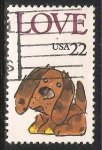 Stamps United States -  Perro