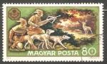 Sellos de Europa - Hungría -  Deer hunt-Cacería de venados